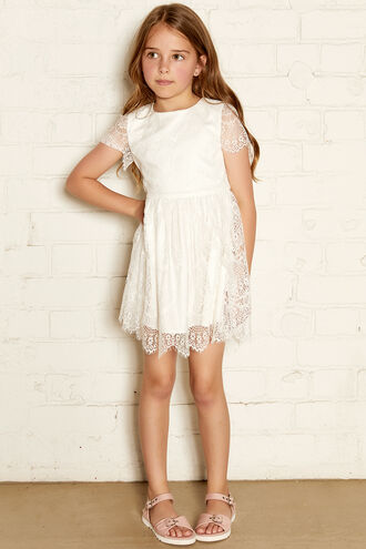 MARGOT LACE DRESS in colour CLOUD DANCER