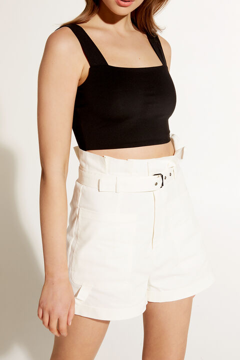 TENILLE CROP TOP in colour CAVIAR