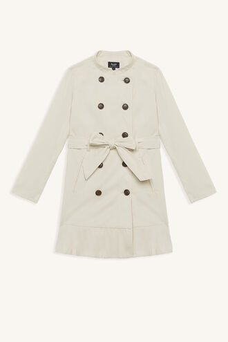 MARCI DRESS COAT in colour TAPIOCA