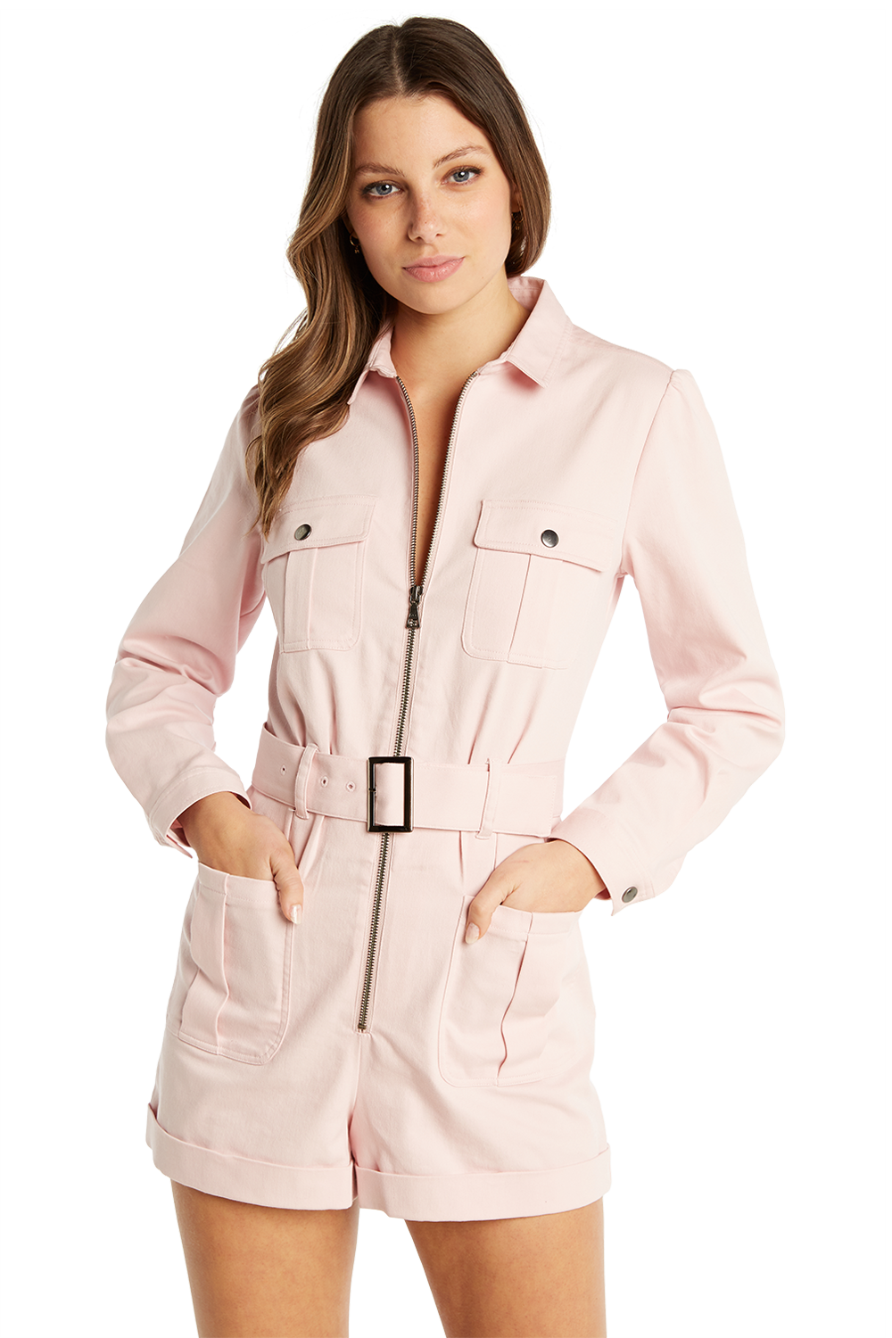 CARGO PLAYSUIT in colour PALE DOGWOOD