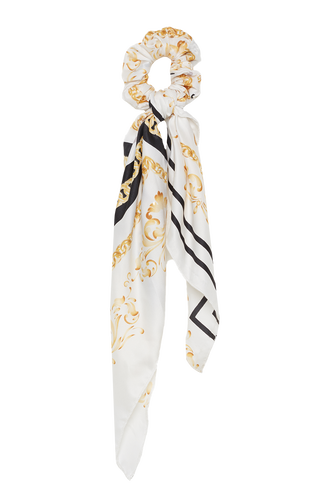 SCRUNCHIE SCARF in colour WHITE ALYSSUM