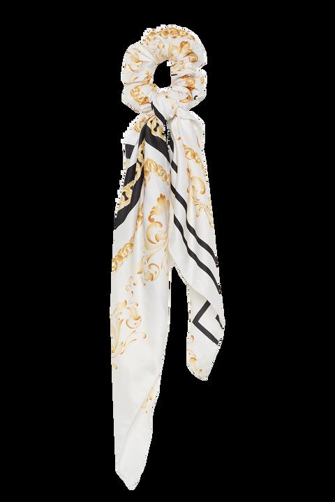 SCRUNCHIE HAIR SCARF in colour WHITE ALYSSUM