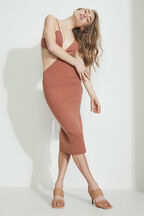 KNOT FRONT KNIT DRESS  in colour FOG