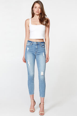 KHLOE HI CROP in colour NIGHTSHADOW BLUE