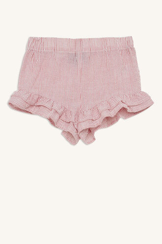 CANDY STRIPE SHORT in colour CRANBERRY