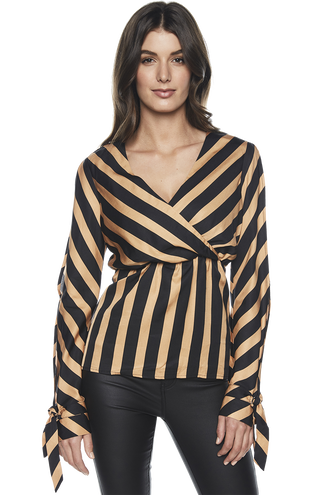 HANNAH STRIPE TUNIC in colour SANDSTORM