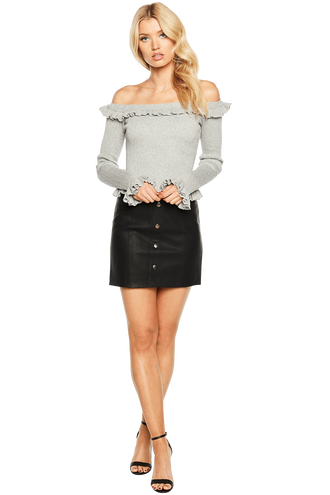 KIM OFF SHOULDER KNIT in colour PALOMA
