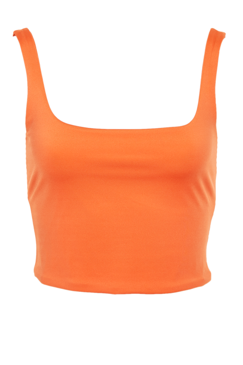 KAROLINA TOP in colour MANDARIN RED