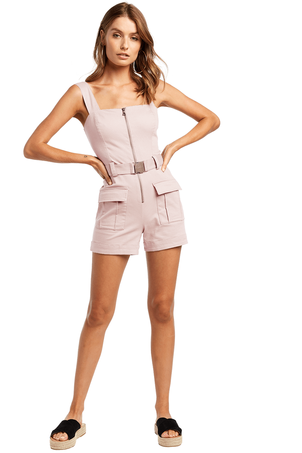 484c8c0965 BUCKLE SHORT PLAYSUIT in colour CRYSTAL GRAY