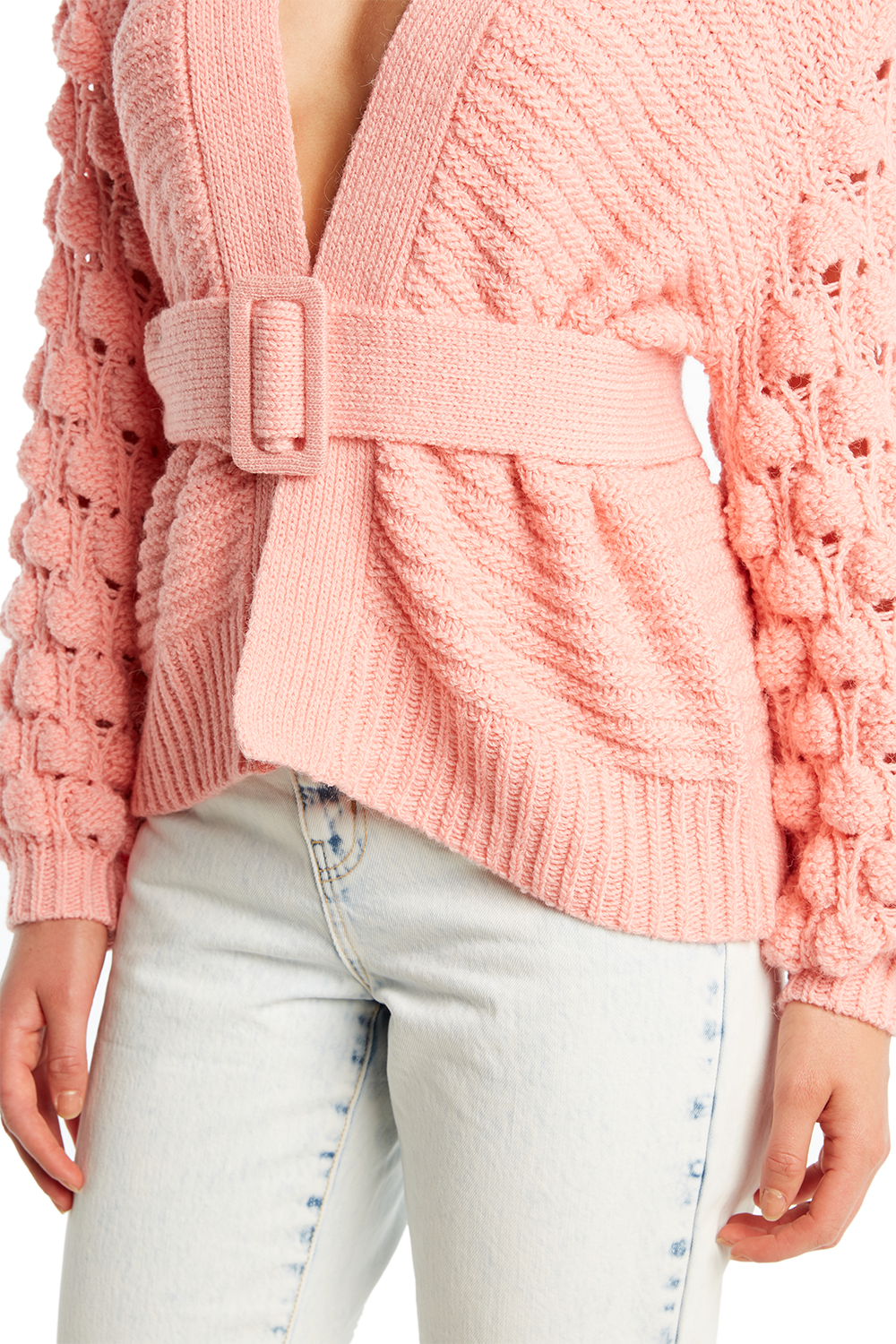EIRA BOBBLE CARDI in colour BUBBLEGUM