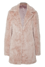 MIDI FAUX FUR COAT in colour SHELL