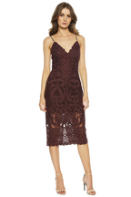 GIA LACE DRESS in colour WINETASTING