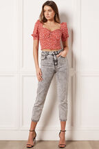 ACID WASH SLIM JEAN in colour JET SET