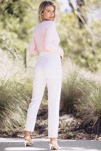 AMANDA CROP CARDI in colour PEACH WHIP