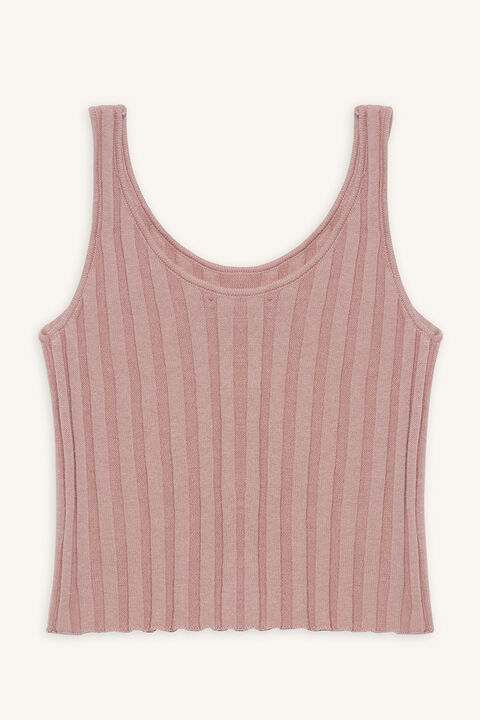 STELLA KNIT TANK in colour ROSE SMOKE