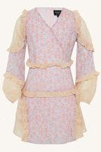 TWEEN GIRL MIMI SPLICE DRESS in colour WAN BLUE