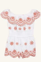 PHEOBE PLAYSUIT in colour CLOUD DANCER