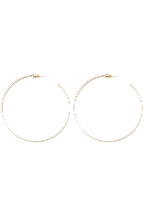 FLAT HOOP EARRINGS in colour GOLD EARTH