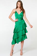 LENNIE MIDI DRESS in colour CLASSIC GREEN