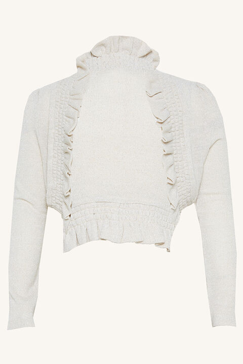 TWEEN GIRL INEZ BOLERO CARDI in colour CLOUD DANCER