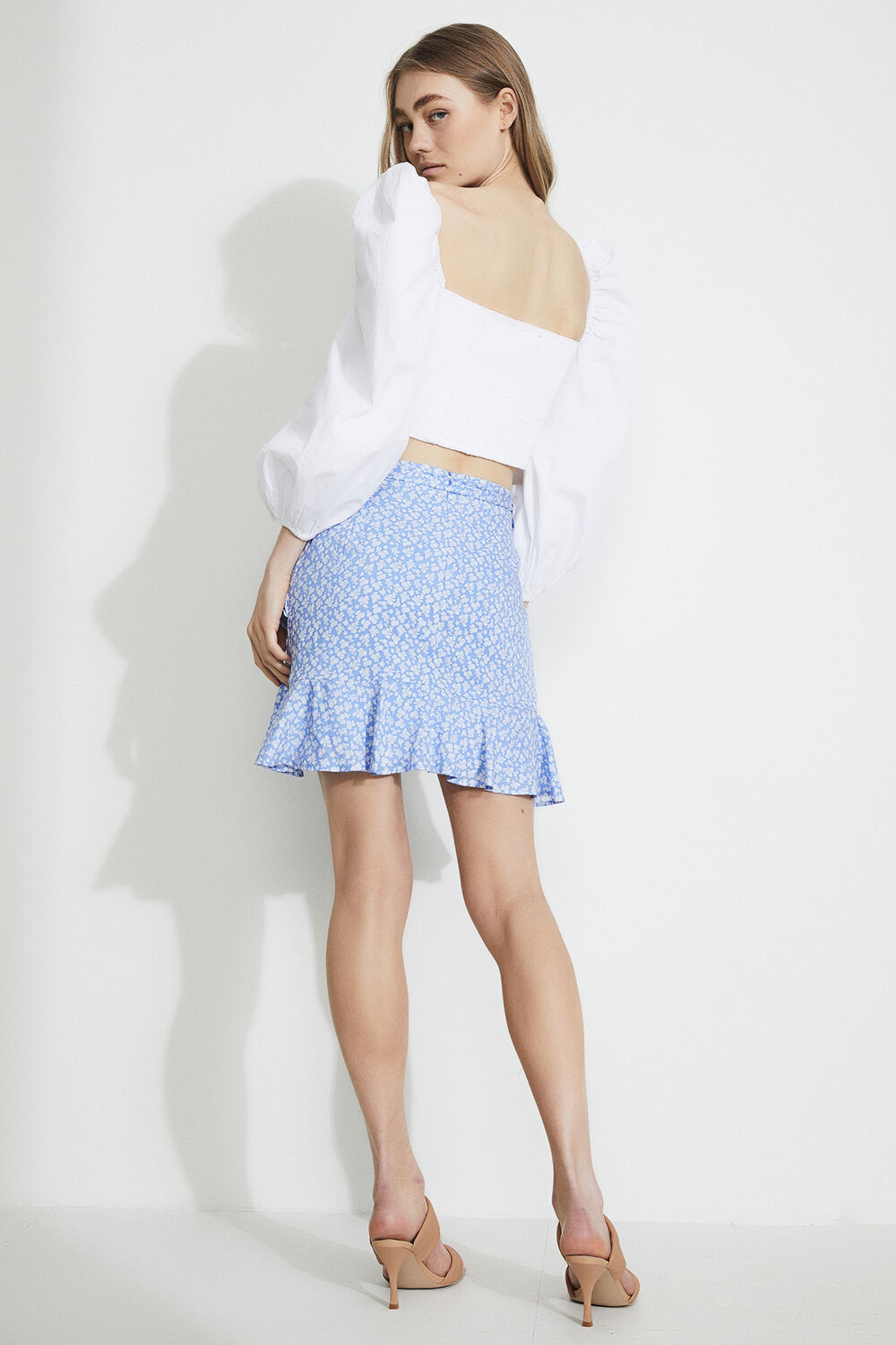 MINI DITSY WRAP SKIRT in colour ANDORRA