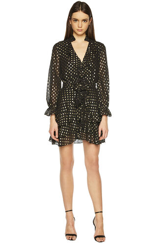 SPOT SHIRT DRESS in colour CAVIAR
