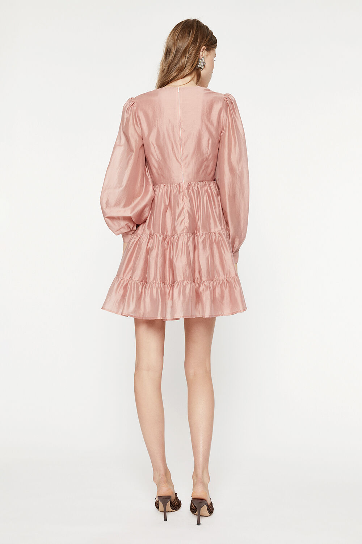 HARLOW MINI DRESS in colour EMERALD
