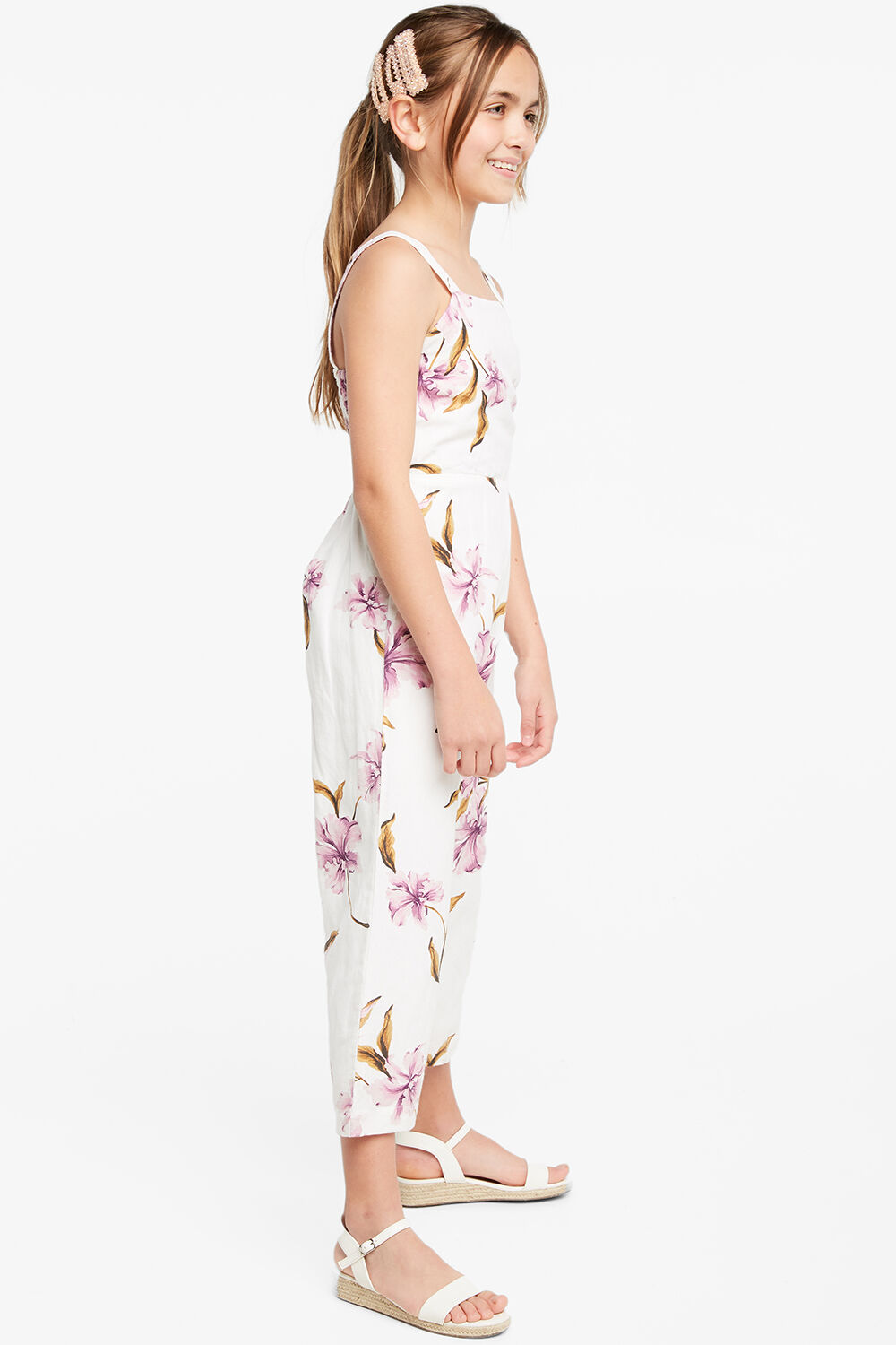 IVY CULOTTE JUMPSUIT in colour BLANC DE BLANC