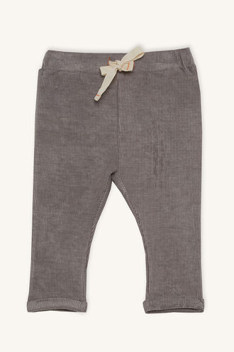 RIB KNIT PANT in colour SILVER BIRCH