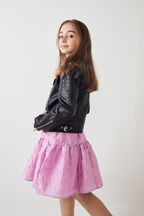 TWEEN GIRL KORA BIKER JACKET in colour CAVIAR