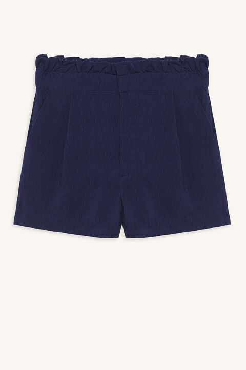 MEGAN PAPERBAG SHORT in colour PATRIOT BLUE
