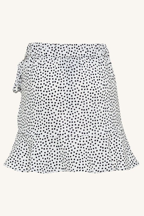 ALEXI WRAP SKIRT in colour CLOUD DANCER
