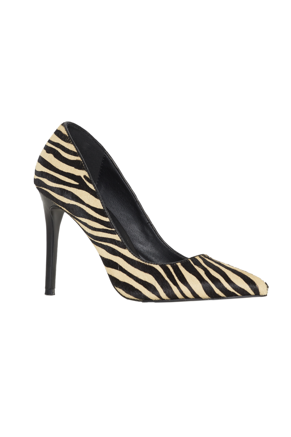 ZEBRA PUMP HEEL in colour ANTELOPE