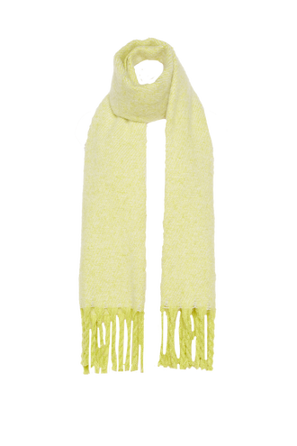 DOUBLE KNIT SCARF in colour JASMINE GREEN