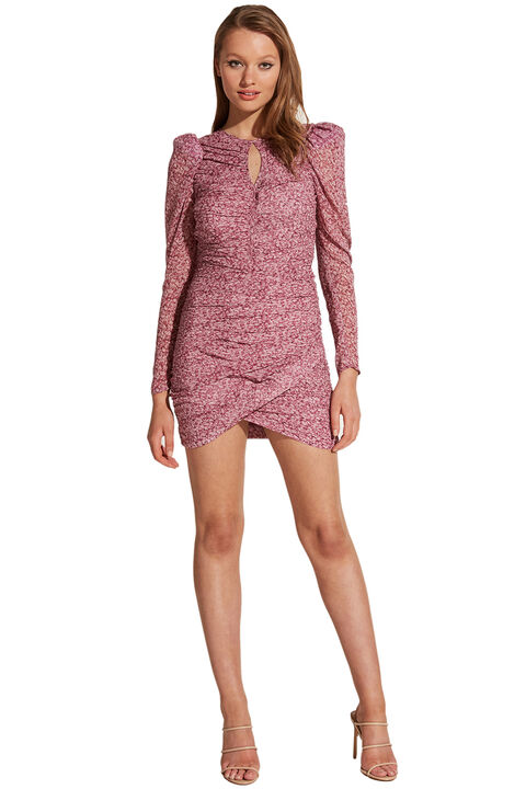 CHARLOTTE FL DRESS in colour WILD ORCHID
