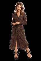 LEOPARD SHIRT DRESS in colour NAVY BLAZER