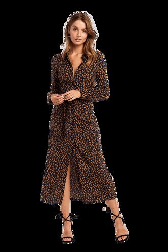 e0f2d6b377 LEOPARD SHIRT DRESS