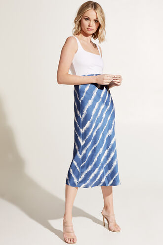 KENDAL BIAS SKIRT in colour BLUE DEPTHS