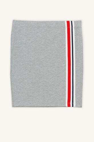 BLAIRE RIB SKIRT in colour MOONBEAM