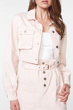 CROPPED DENIM JACKET in colour SHRINKING VIOLET