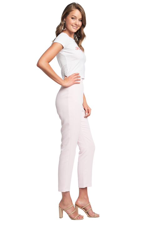 ZALIA SLIM PANT in colour BLUSHING BRIDE