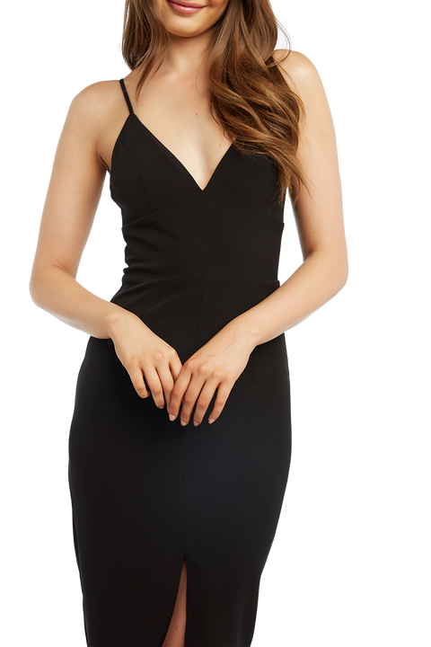DIANNA MIDI DRESS in colour CAVIAR