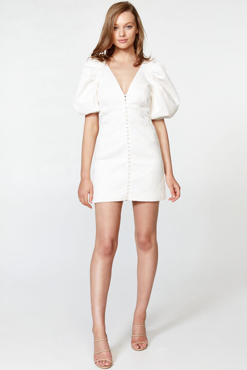 MARNIE MINI DRESS in colour CLOUD DANCER