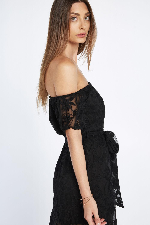 GRACIE SHIRT DRESS in colour CAVIAR