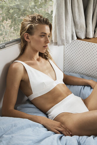 RIB BRALETTE in colour BRIGHT WHITE