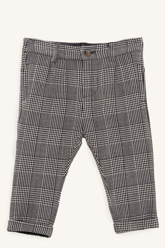 CHECK CHINO PANT in colour CLOUD DANCER