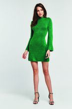 TASH DRESS in colour PEPPER GREEN