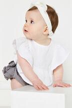 BELLE RUFFLE BIB TOP in colour CLOUD DANCER