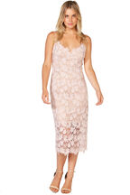 TAYLA LACE DRESS in colour SOFT PINK