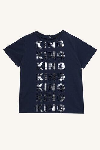 KING HALFTONE TEE in colour BLACK IRIS